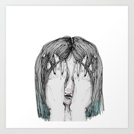Sometimes I'm sad Art Print