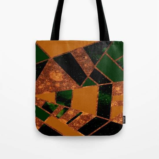 #455 Gold & Pothos Tote Bag