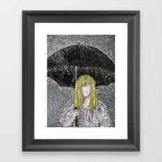 Umbrella - Expressive Mixed Glass Mosaic Framed Art Print