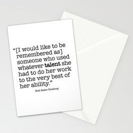 someone who used whatever talent she  had to do her work to the very best of her ability Stationery Cards