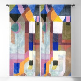 COLORFUL ARCHITECTURE, by Paul Klee Blackout Curtain