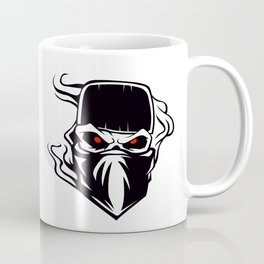 Skull bandana hat Outlaw Coffee Mug