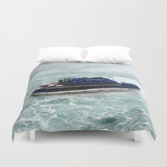 Landscape | Niagara Falls | Canada | All Aboard! Duvet Cover