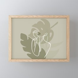 Plant Lady Figure Abstract Framed Mini Art Print