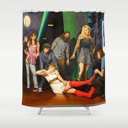 Whiskey is a brawler, but I think I love you Shower Curtain