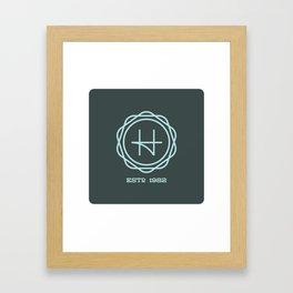 H Seal – Light Blue Framed Art Print