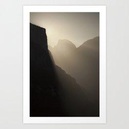 Yosemite Valley Moonlight Art Print