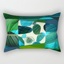 Tropical Palm Leaf Mod Rectangular Pillow