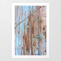 Turquoise Beach Wood II Art Print