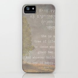 She Is the Tree of Life - Hebrew Bible Quote iPhone Case