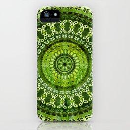 Vintage Lime Mandala iPhone Case