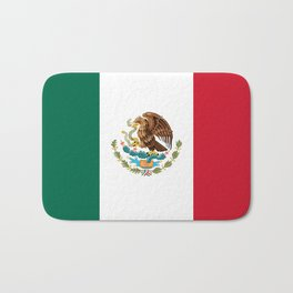 The Mexican national flag - Authentic high quality file Bath Mat