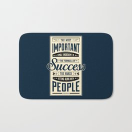 Lab No. 4 The Most Important Theodore Roosevelt Motivational Quotes Bath Mat