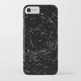 Constellation Map - Black iPhone Case