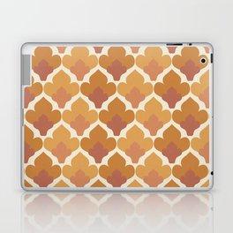 Orange Flower Pattern Laptop & iPad Skin