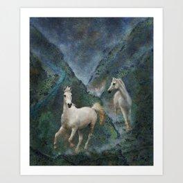 Green Canyon Run Art Print