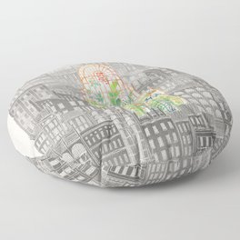 Eva City Glasshouse Floor Pillow