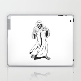 Grim reaper holding an hourglass -  black and white Laptop & iPad Skin