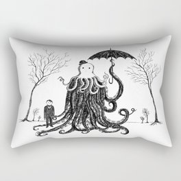 Young Master Lovecraft Finds A Friend Rectangular Pillow