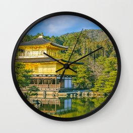 Kinkakuji Golden Pavilion, Kyoto, Japan Wall Clock