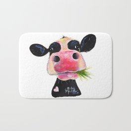 CoW PRiNT ANiMaL PRiNT ' HuRLeY BuRLeY ' BY SHiRLeY MacARTHuR Bath Mat