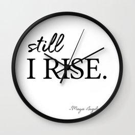 I'll rise #minimalism 3 Wall Clock