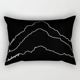 Tallest Mountains in the World / Mt Everest K2 Kanchenjunga / B&W Minimalist Line Drawing Art Print Rectangular Pillow