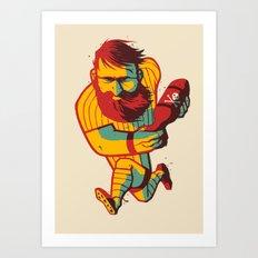 Rugby Bomb Art Print