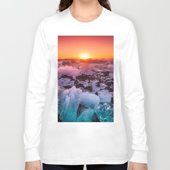 Ice of Antarctica's Sunset Long Sleeve T-shirt