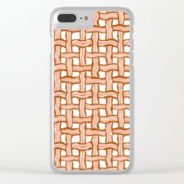 Bacon weave Clear iPhone Case