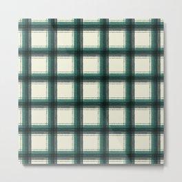 plaid-pine green Metal Print