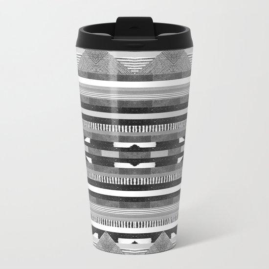 DG Aztec No.2 Monotone Metal Travel Mug