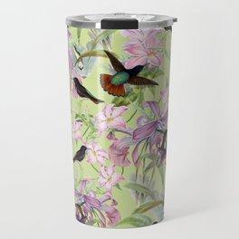 Vintage & Shabby Chic - Hummingbird tropical Jungle Pattern Travel Mug