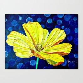 Cosmos Flower | Watercolor Art Canvas Print
