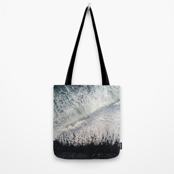 Black Pebble Beach Tote Bag