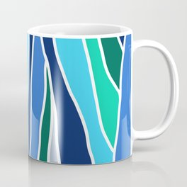 Waterfall Inspired Design // Let Go (Blue and Green) Coffee Mug