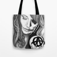 gemma Tote Bags featuring Twisted Gemma by E. Moug Art