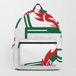 Red Dragon Soccer Ball Crest Backpack