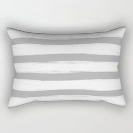 grey and white gross stripes no.3 Rectangular Pillow