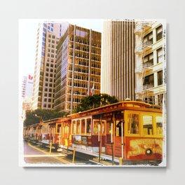 Cable cars Metal Print