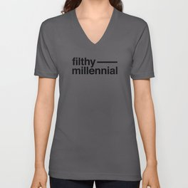 Filthy Millennial Unisex V-Neck