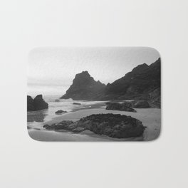 Mist Rolling in at Kynance Cove Bath Mat