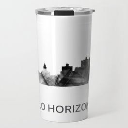 Belo Horizonte, Brazil skyline WB BW Travel Mug