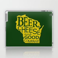 Green and Gold Beer, Cheese and Good Company Wisconsin Laptop & iPad Skin