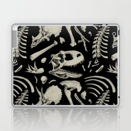 Dino Bones Black Laptop & iPad Skin