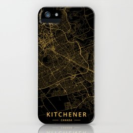 Kitchener, Canada - Gold iPhone Case