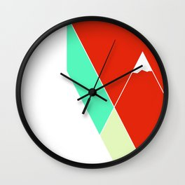Mountain Geometry Wall Clock