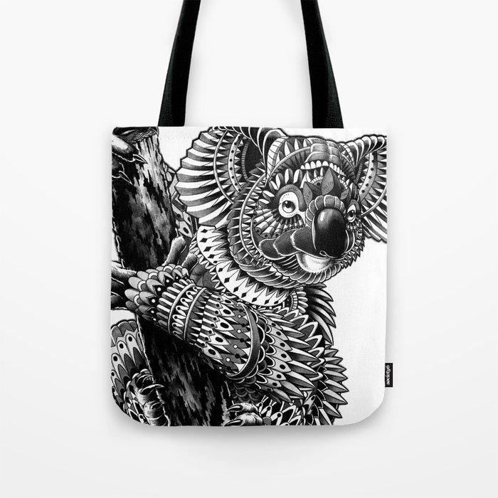 Ornate Koala Tote Bag