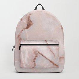 Natural blush pink marble Backpack