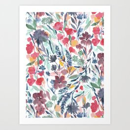 Upside Floral Deep Art Print